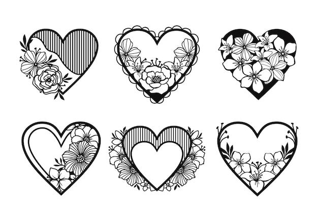 Zestaw dekoracji symbol miłości