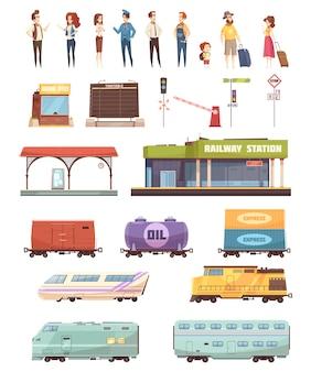 Zestaw dekoracyjny kolejowy