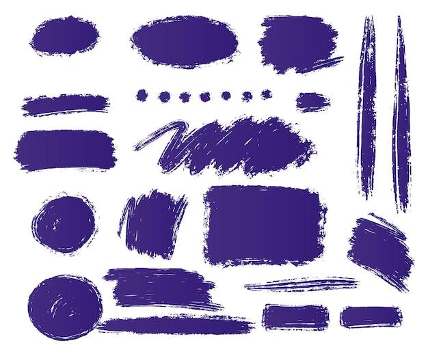 Zestaw dekoracyjnych kształtów pędzla