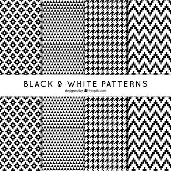 Zestaw dekoracyjnych wzorów w czerni i bieli