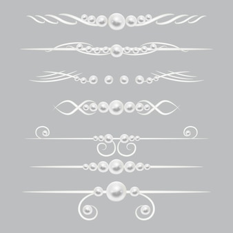 Zestaw dekorów z perełkami