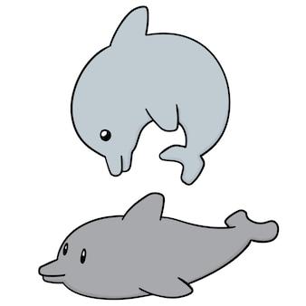 Zestaw delfinów