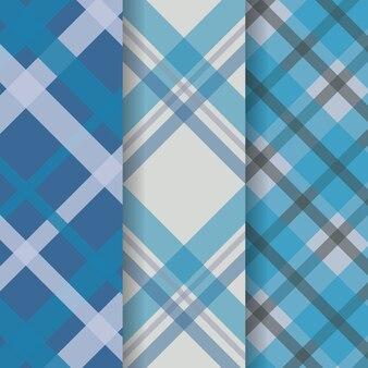 Zestaw delikatnych wzorów tkanin