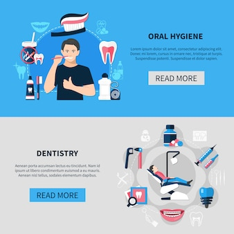 Zestaw dentystyczny poziomy baner