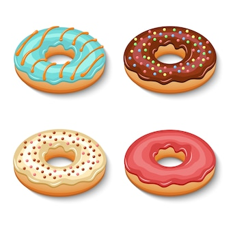 Zestaw deserów donut