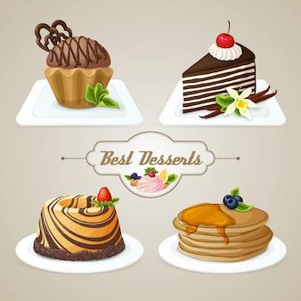 Zestaw deserów słodyczy