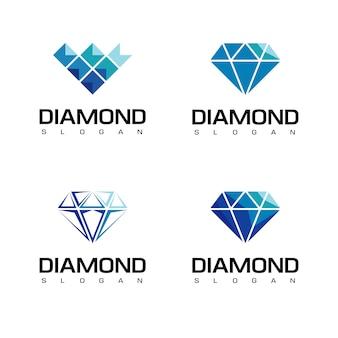 Zestaw diamentowych logo