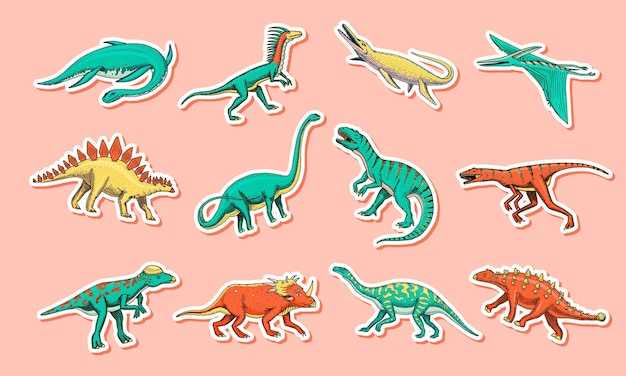 Zestaw dinozaurów tyranozaur rex triceratops barozaur diplodok velociraptor triceratops