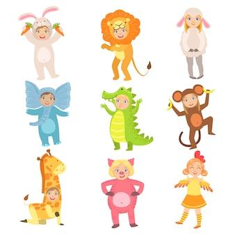 Zestaw dla dzieci w kostiumach zwierząt