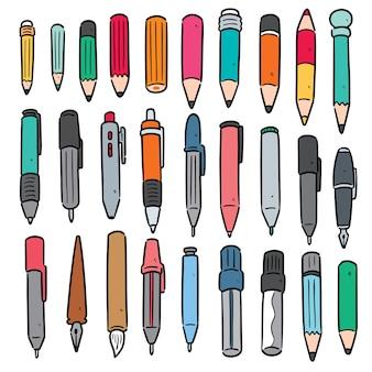 Zestaw długopisu i ołówka