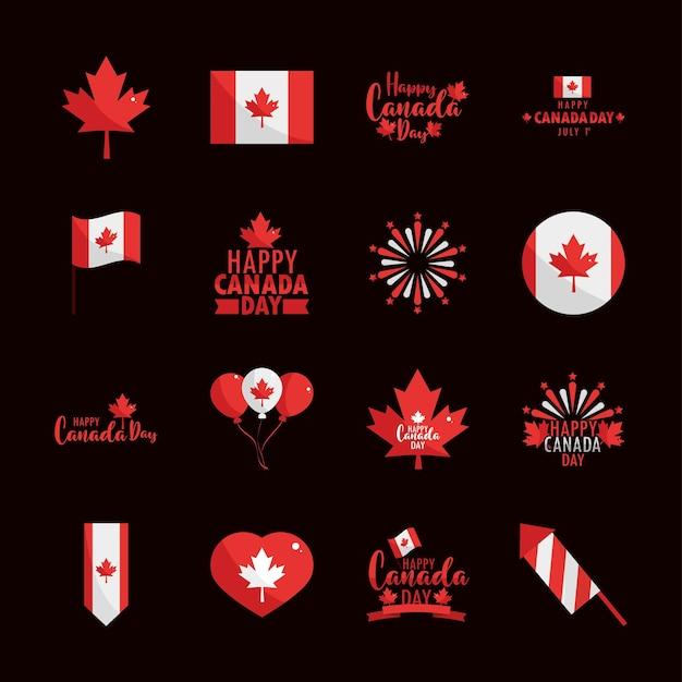 Zestaw dnia kanady