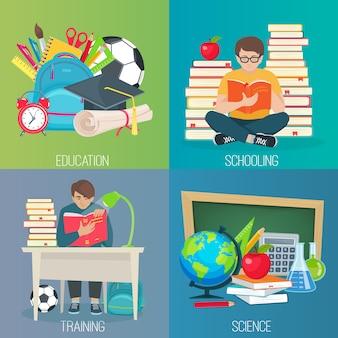 Zestaw do edukacji z powrotem do szkoły