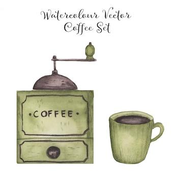 Zestaw do kawy akwarelowej