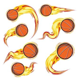 Zestaw do koszykówki w ogniu