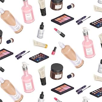 Zestaw do makijażu izometryczny