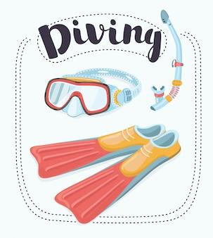 Zestaw do nurkowania - płetwy i maska z tubą