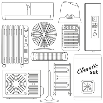 Zestaw do ogrzewania, wentylacji i klimatyzacji. prosty