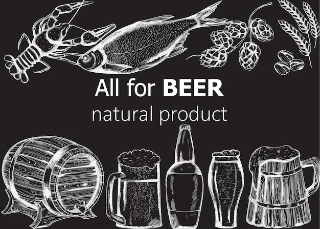 Zestaw do piwa z rybami, rakami, karczochem i pistacjami