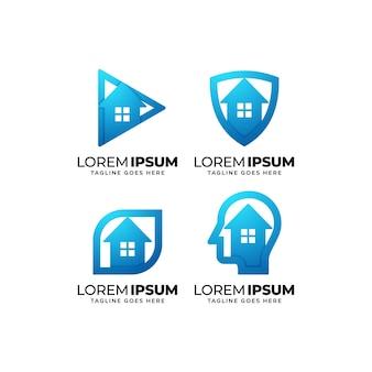 Zestaw do projektowania logo domu i nieruchomości