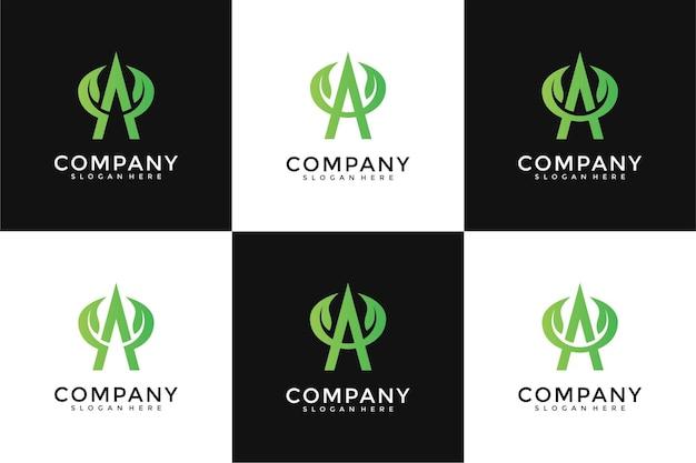 Zestaw do projektowania logo liścia listowego