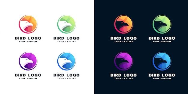 Zestaw do projektowania logo ptaka