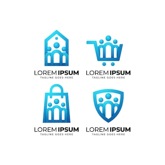 Zestaw do projektowania logo społeczności biznesowej