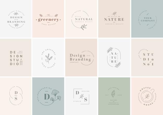Zestaw do projektowania logo