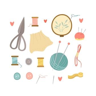 Zestaw do robienia na drutach i haftu