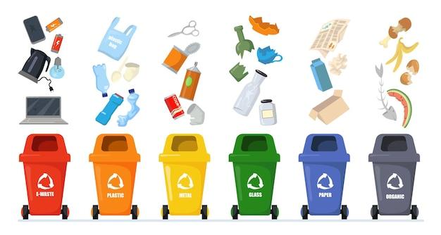 Zestaw do sortowania śmieci.