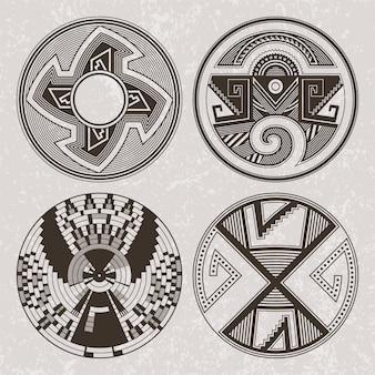 Zestaw do tatuażu i druku indian pueblo indian ameryki północnej