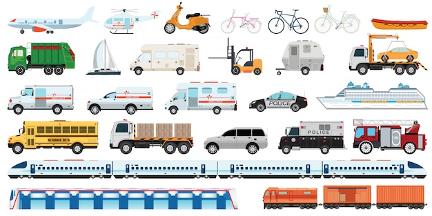 Zestaw Do Transportu. Premium Wektorów