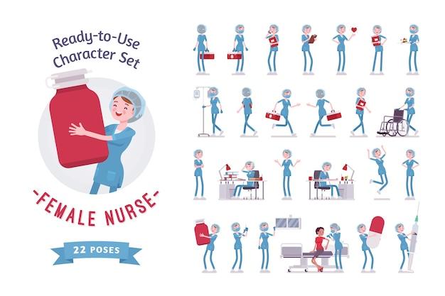 Zestaw do tworzenia postaci kobiecej pielęgniarki