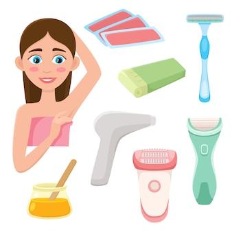 Zestaw do usuwania włosów w stylu płaskim, narzędzia do depilacji