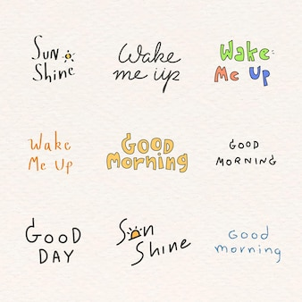 Zestaw dobrego słowa rano