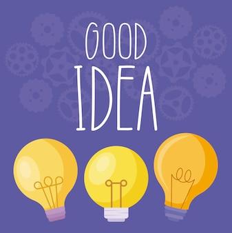 Zestaw dobrych pomysłów żarówek