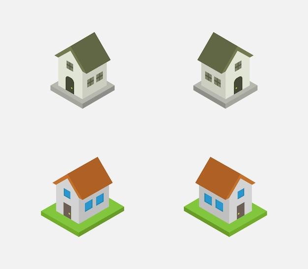 Zestaw domów izometrycznych