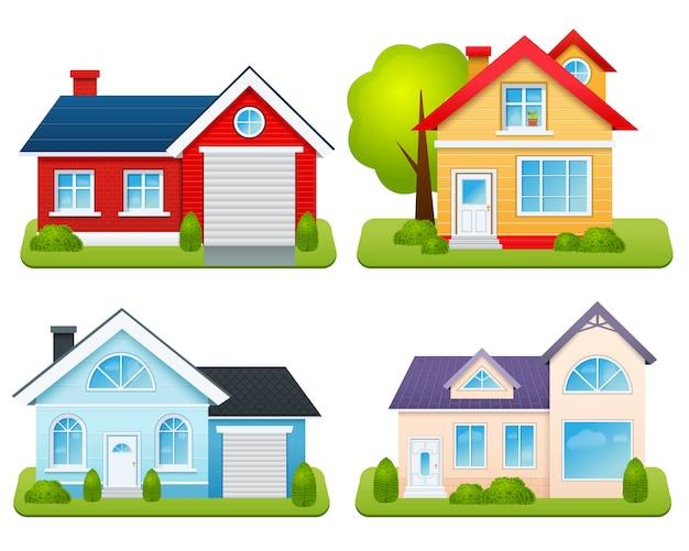 Zestaw domów prywatnych