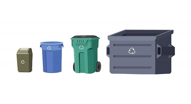Zestaw domowych koszy na śmieci