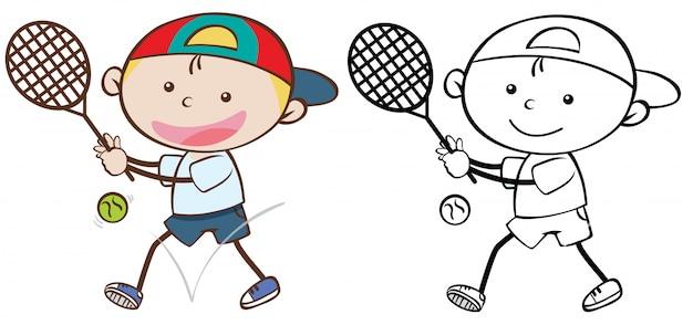 Zestaw doodle kid kid character