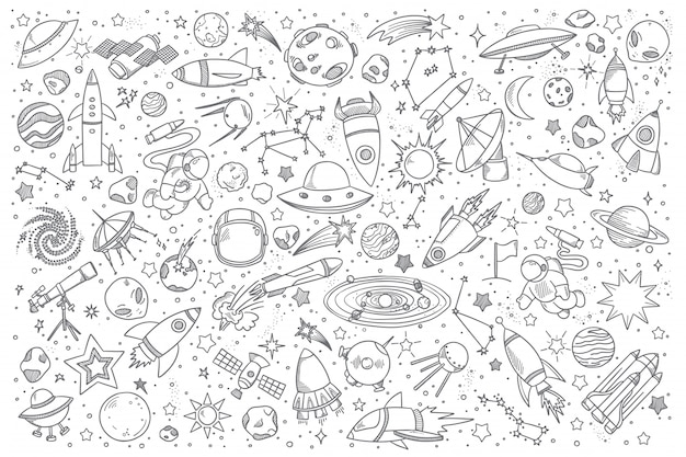 Zestaw doodle miejsca