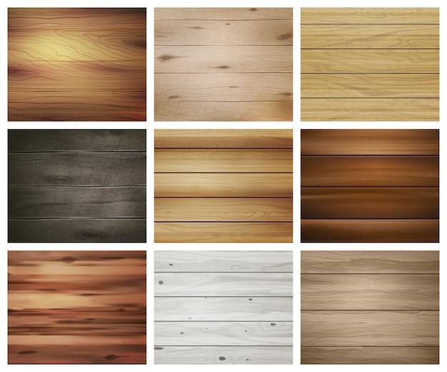Zestaw drewnianych tekstur