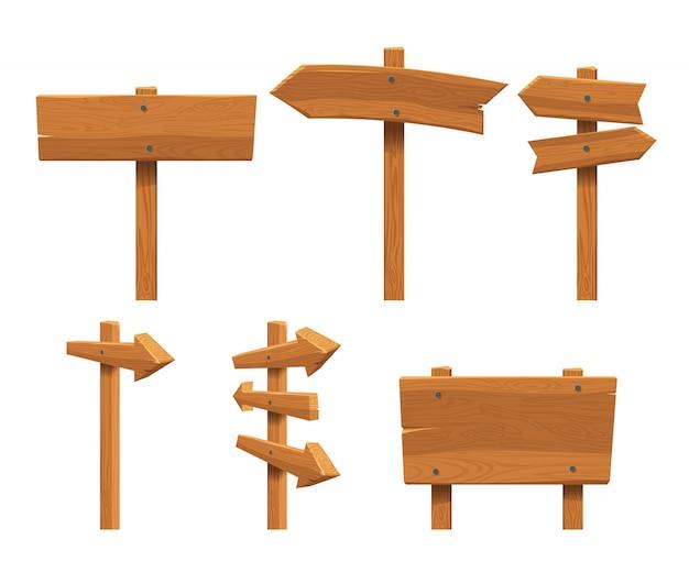 Zestaw drewnianych znaków