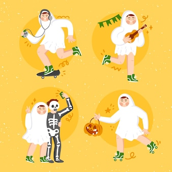 Zestaw duchów festiwalu halloween