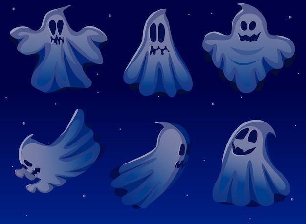 Zestaw duchów halloween.