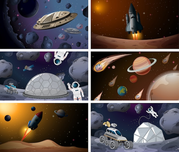 Zestaw dużej sceny kosmicznej