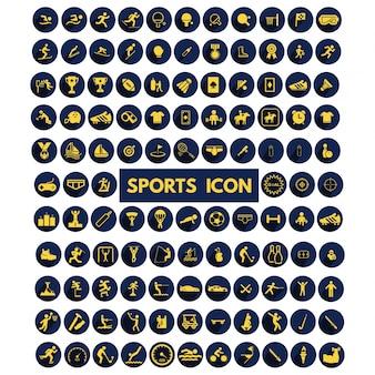 Zestaw dużych ikon sportowe kolekcja