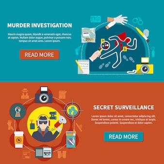 Zestaw dwóch banerów detektywistycznych
