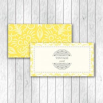 Zestaw dwóch kart ozdobnych kwiatów mandali.