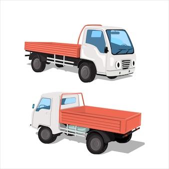 Zestaw dwóch miejskich ciężarówek