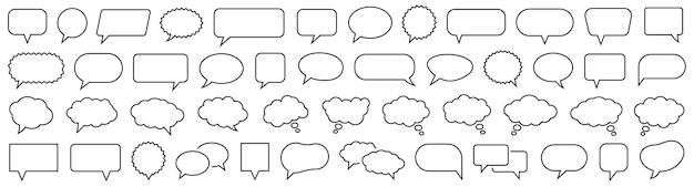 Zestaw dymek. dyskusja bańka. kolekcja chmura dymki. wektor